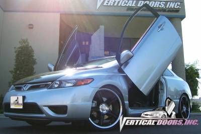 Vertical Doors Inc - Honda Civic 2DR VDI Vertical Lambo Door Hinge Kit - Direct Bolt On - VDCHC06082D