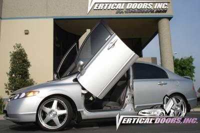Vertical Doors Inc - Honda Civic 4DR VDI Vertical Lambo Door Hinge Kit - Direct Bolt On - VDCHC06084D