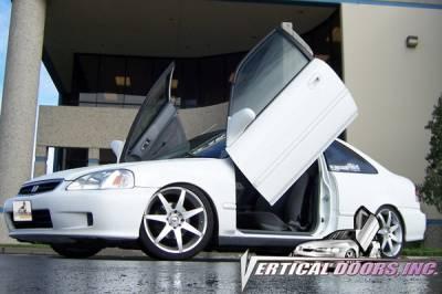 Vertical Doors Inc - Honda Civic VDI Vertical Lambo Door Hinge Kit - Direct Bolt On - VDCHC9600