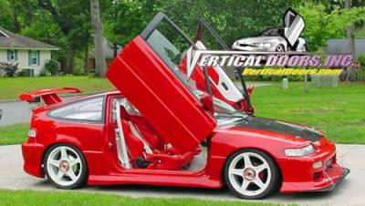 Vertical Doors Inc - Honda CRX VDI Vertical Lambo Door Hinge Kit - Direct Bolt On - VDCHCRX8891