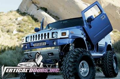 Vertical Doors Inc - Hummer H2 VDI Vertical Lambo Door Hinge Kit - Direct Bolt On - VDCHUMH20308
