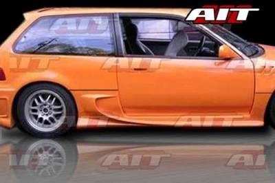 AIT Racing - Honda Civic HB AIT VS Style Side Skirts - HC88HIVSSSS