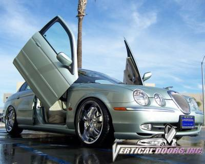Vertical Doors Inc - Jaguar S Type VDI Vertical Lambo Door Hinge Kit - Direct Bolt On - VDCJAGS0006