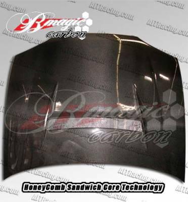 AIT Racing - Honda Civic AIT Racing N1 Style Carbon Fiber Hood - HC92BMN1SCFH