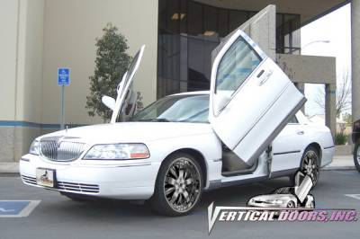 Vertical Doors Inc - Lincoln Town Car VDI Vertical Lambo Door Hinge Kit - Direct Bolt On - VDCLTC9806