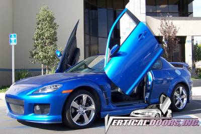 Vertical Doors Inc - Mazda RX-8 VDI Vertical Lambo Door Hinge Kit - Direct Bolt On - VDCMAZRX80408
