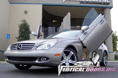 Vertical Doors Inc - Mercedes-Benz CLS VDI Vertical Lambo Door Hinge Kit - Direct Bolt On - VDCMERCLS04