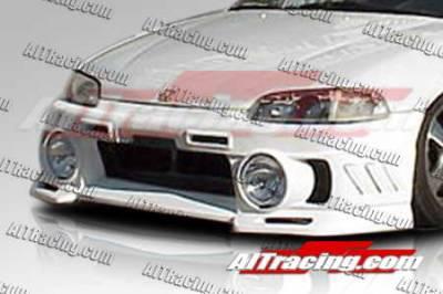 AIT Racing - Honda Civic 2DR AIT Racing EVO3-L Style Front Bumper - HC92HIEVO3FBL