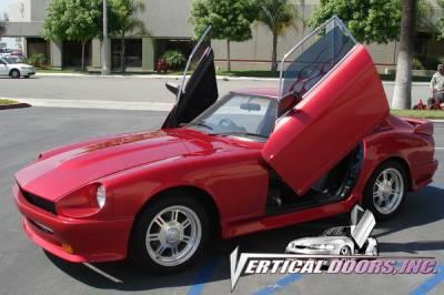 Vertical Doors Inc - Nissan 240Z VDI Vertical Lambo Door Hinge Kit - Direct Bolt On - VDCN240Z7073
