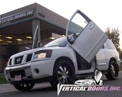 Vertical Doors Inc - Nissan Armada VDI Vertical Lambo Door Hinge Kit - Direct Bolt On - VDCNARM04