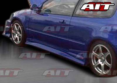 AIT Racing - Honda Civic HB AIT FLS Style Side Skirts - HC92HIFLSSS3