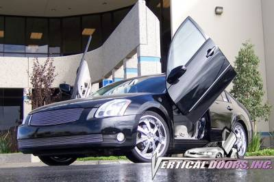 Vertical Doors Inc - Nissan Maxima VDI Vertical Lambo Door Hinge Kit - Direct Bolt On - VDCNMAX0408