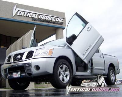 Vertical Doors Inc - Nissan Titan VDI Vertical Lambo Door Hinge Kit - Direct Bolt On - VDCNTITAN0507