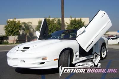 Vertical Doors Inc - Pontiac Trans Am VDI Vertical Lambo Door Hinge Kit - Direct Bolt On - VDCPONFIRE9397