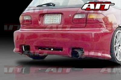 AIT Racing - Honda Civic HB AIT Revolution Style Rear Bumper - HC92HIREVRB3