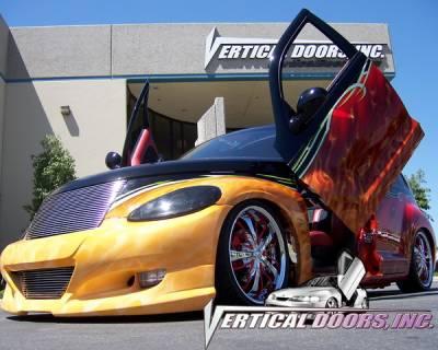 Vertical Doors Inc - Chrysler PT Cruiser VDI Vertical Lambo Door Hinge Kit - Direct Bolt On - VDCPTC0108