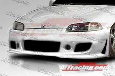 AIT Racing - Honda Civic 2DR AIT Racing Zen Style Front Bumper - HC92HIZENFB