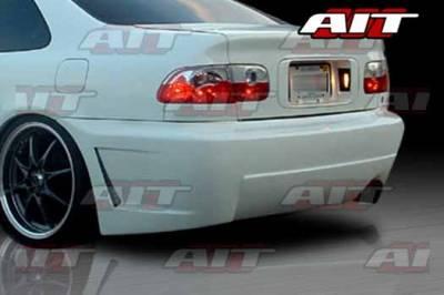 AIT Racing - Honda Civic 2DR & 4DR AIT Zen Style Rear Bumper - HC92HIZENRB2