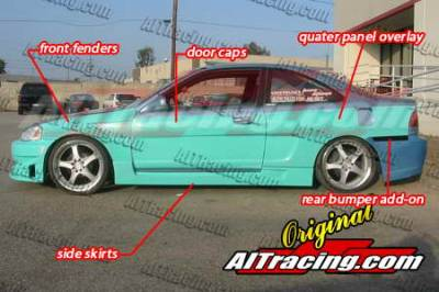 AIT Racing - Honda Civic AIT Racing NX Style Wide Body Kit - HC96BMNXSCK2