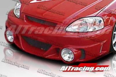 AIT Racing - Honda Civic AIT Racing EVO2-L Style Front Bumper - HC96HIEVO2FBL