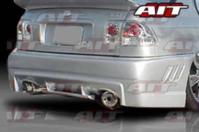 AIT Racing - Honda Civic 2DR AIT EVO-3 Style Rear Bumper - HC96HIEVO3RB2