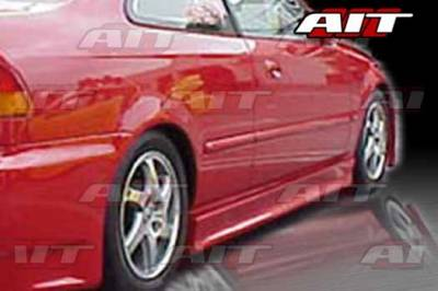 AIT Racing - Honda Civic 2DR & 4DR AIT EVO3 Style Side Skirts - HC96HIEVO3SS2