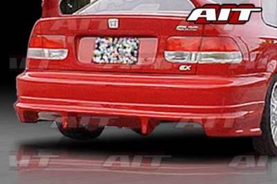 AIT Racing - Honda Civic 2DR & 4DR AIT FLS Style Rear Bumper - HC96HIFLSRB2