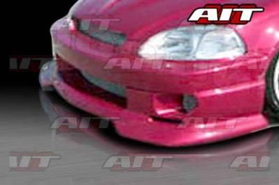AIT Racing - Honda Civic AIT SFII Style Front Bumper - HC96HISFIIFB
