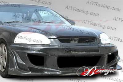 AIT Racing - Honda Civic AIT Racing Vascious Style Front Bumper - HC96HIVASFB
