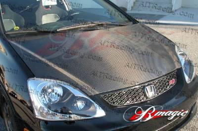 AIT Racing - Honda Civic AIT Racing OEM Style Carbon Fiber Hood - HC99BMCFH