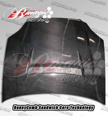 AIT Racing - Honda Civic AIT Racing N1 Style Carbon Fiber Hood - HC99BMN1SCFH
