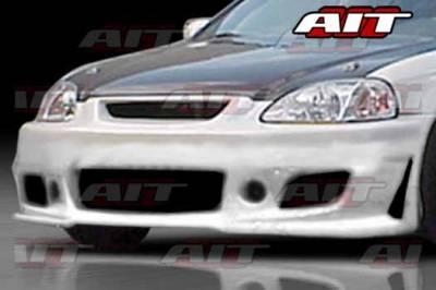 AIT Racing - Honda Civic AIT Zen Style Front Bumper - HC99HIZENFB