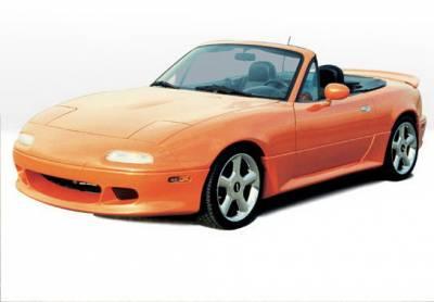Wings West - Mazda Miata Wings West W-Type Rear Lower Skirt - Fiberglass - 490010