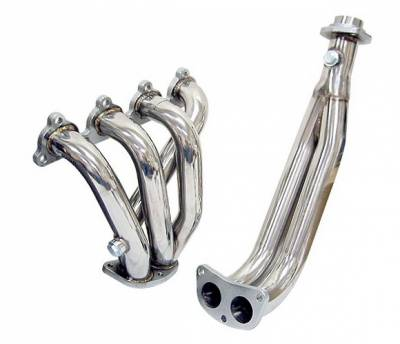 4 Car Option - Honda Civic 4 Car Option Stainless Steel Exhaust Header - HEAD-HC88