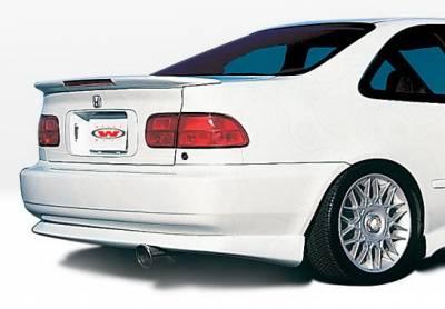 Wings West - Honda Civic 2DR Wings West Racing Series Rear Lower Skirt - 890070