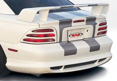 Wings West - Ford Mustang Wings West Custom Style Rear Lower Skirt - 890112