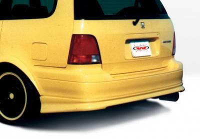 Wings West - Honda Odyssey Wings West Custom Rear Lower Skirt - 890121
