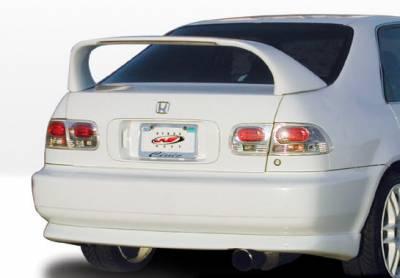 VIS Racing - Honda Civic 4DR VIS Racing Racing Series Rear Lip - Polyurethane - 890140
