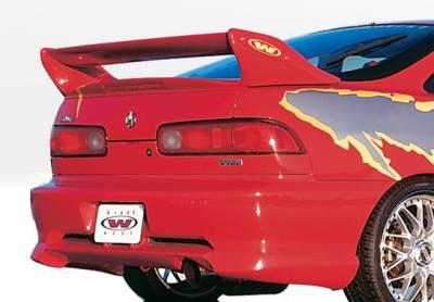 VIS Racing - Acura Integra 2DR VIS Racing W-Type Rear Lip - Polyurethane - 890227