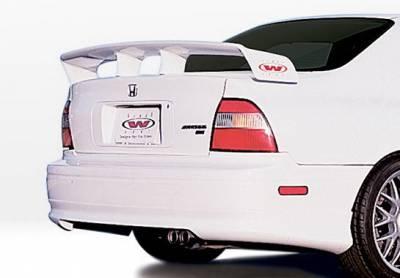 Wings West - Honda Accord Wings West W-Type Rear Lower Skirt - 890265