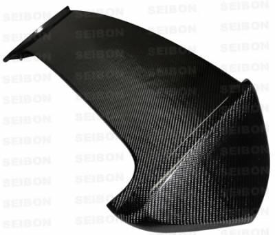 Seibon - Subaru WRX Seibon STI Style Carbon Fiber Rear Spoiler with LED - RS0809SBIMPSTI