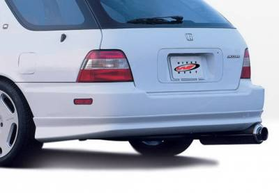 Wings West - Honda Accord Wagon Wings West W-Type Rear Lower Skirt - 890316