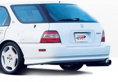 Wings West - Honda Accord Wagon Wings West W-Type Rear Lower Skirt - 890320
