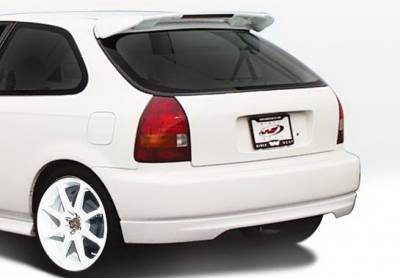 Wings West - Honda Civic HB Wings West Type R Rear Lower Skirt - 890357