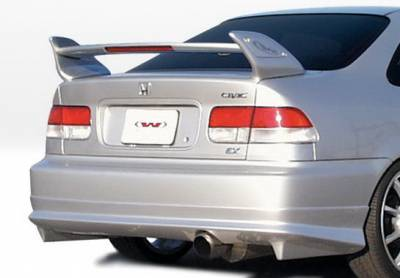 Wings West - Honda Civic 2DR & 4DR Wings West W-Type Rear Lower Skirt - 890375
