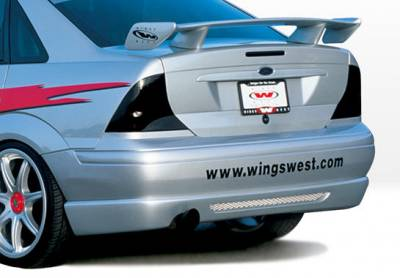 VIS Racing - Ford Focus 4DR VIS Racing W-Type Rear Lip - Polyurethane - 890484