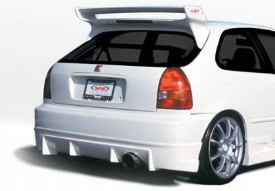 Wings West - Honda Civic HB Wings West Tuner Type I Rear Lower Skirt - 890504
