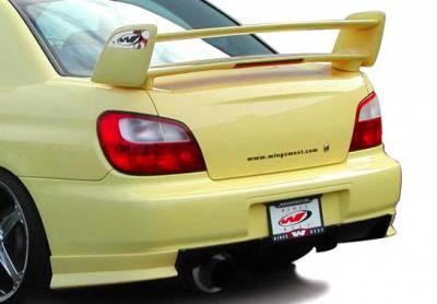 Wings West - Subaru WRX Wings West W-Type Rear Lower Skirt - 890700