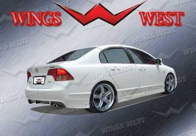 VIS Racing - Honda Civic 4DR VIS Racing VIP Rear Lip - Polyurethane - Polyurethane - 890913