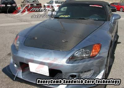 AIT Racing - Honda S2000 AIT Racing OEM Style Carbon Fiber Hood - HS00BMCFH